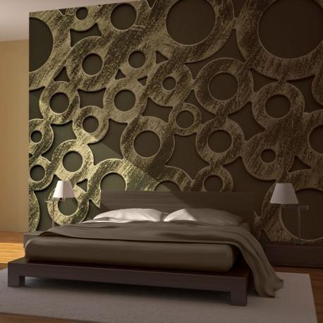 Papier peint  Cercles en bronze