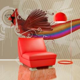 Papier peint - Oiseau arc-en-ciel