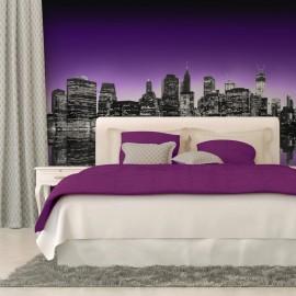 Papier peint - The Big Apple in purple color