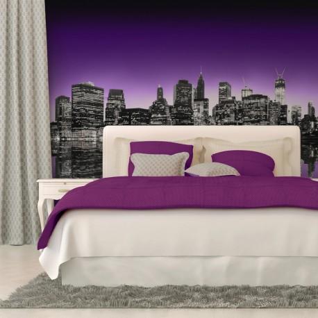 Papier peint  The Big Apple in purple color