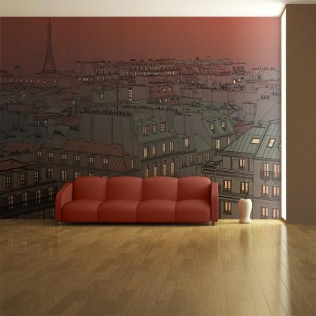 Papier peint  Un soir insolite à Paris