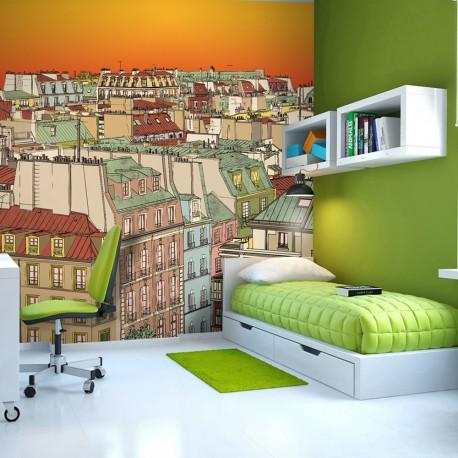 Papier peint  Café du matin à Paris