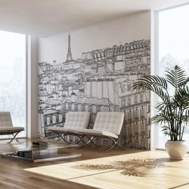 Papier peint - Croquis parisien
