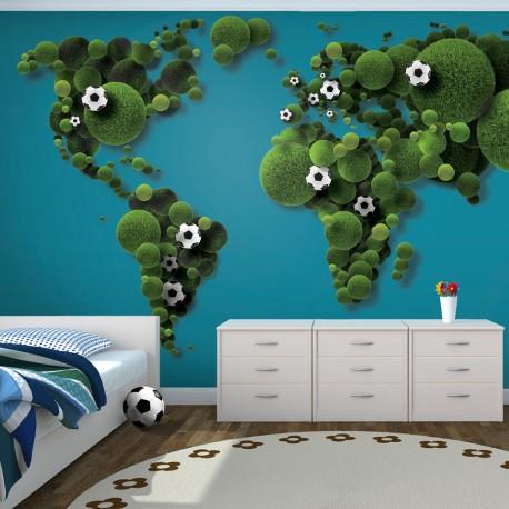Papier peint  A World of football