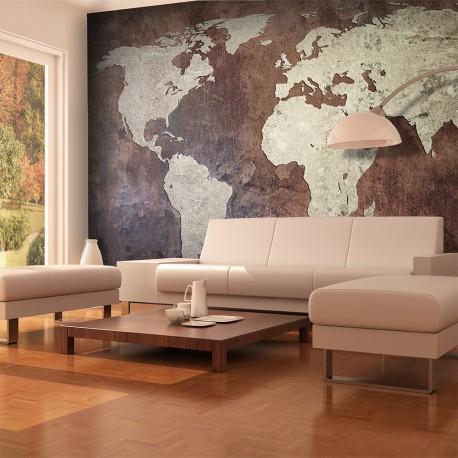 Papier peint  continents de fer