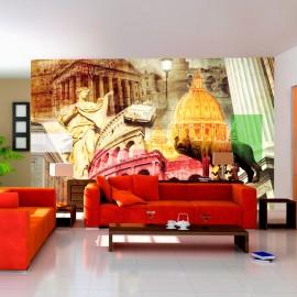 Papier peint - Rome - collage