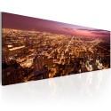 Tableau - Canvas print - Flight over Chicago