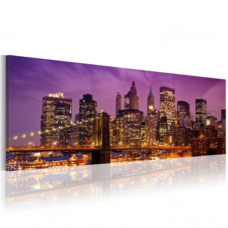 Tableau  Canvas print  Night in New York