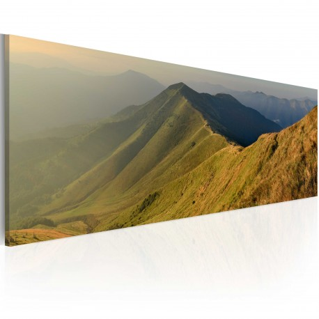 Tableau  Canvas print  Mountains at sunset
