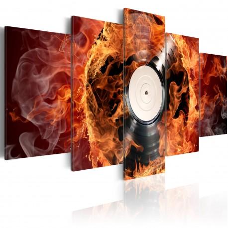 Tableau  Vinyl brûlant