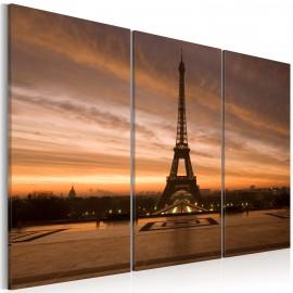 Tableau - Coucher de soleil sur la tour Eiffel