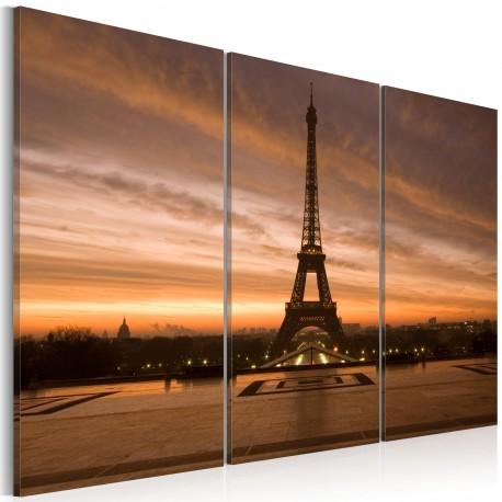 Tableau  Coucher de soleil sur la tour Eiffel