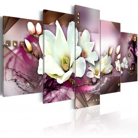 Tableau  Abstraction attirant avec orchidée