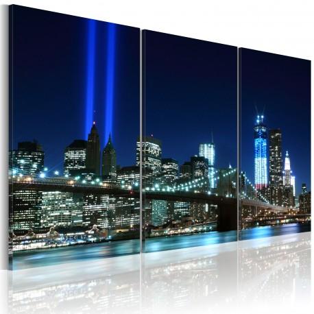Tableau  Lumières bleues à New York