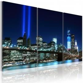 Tableau - Lumières bleues à New York