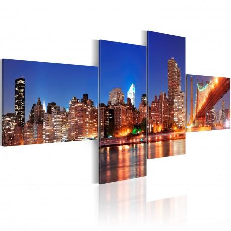 Tableau  Panorama de nuit  New York