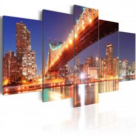 Tableau -  New York aux reflets dorés