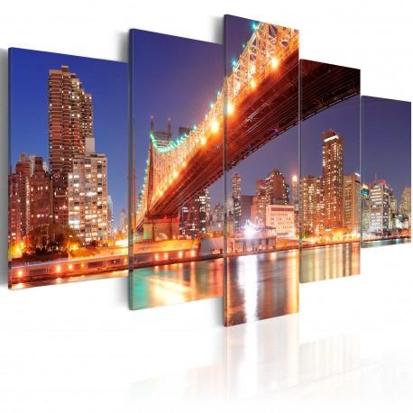 Tableau   New York aux reflets dorés