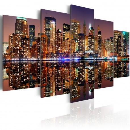 Tableau  NYC  reflet dans le miroir