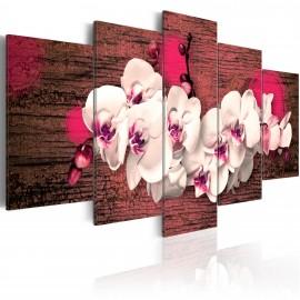 Tableau - Joie et orchidée