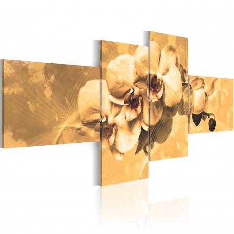 Tableau  Orchidées en sépia