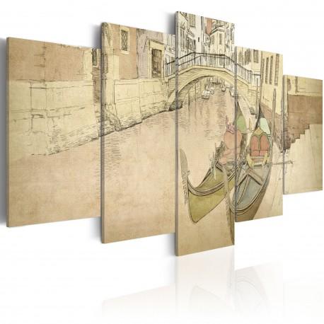 Tableau  Venise et gondoles