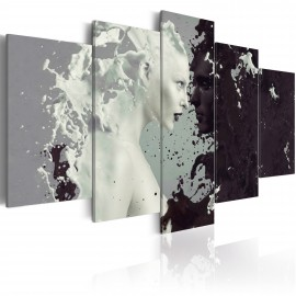 Tableau - Black or white? - 5 pieces