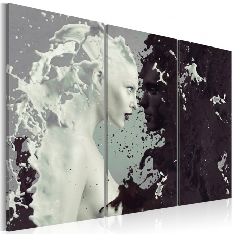 Tableau  Black or white?  triptych
