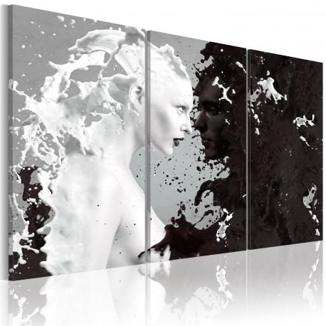 Tableau  Milk & Choco  triptych