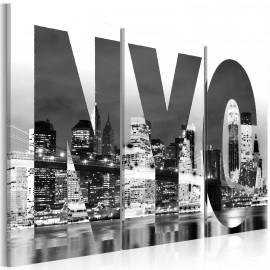 Tableau - New York (noir et blanc)