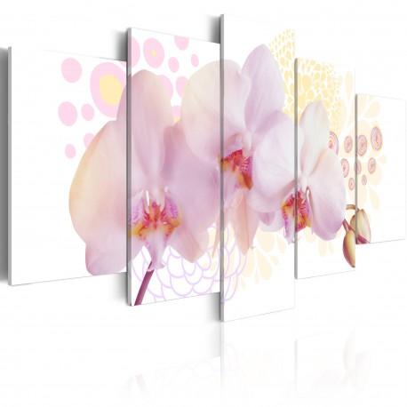 Tableau  Orchidée subtile