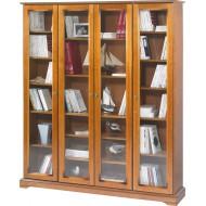 Bibliothèque 4 portes vitrées Louis Philippe 7401V
