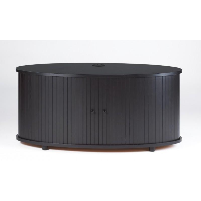 Meuble tv noir 110 cm grand ecran beaux meubles pas chers for Meuble tv largeur 110 cm