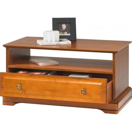 Table basse merisier 1 tiroir 1 niche 67351