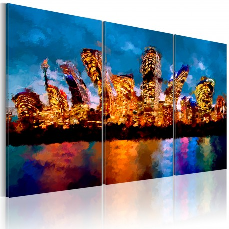 Tableau  Mad city  triptych