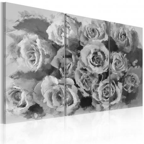 Tableau  Douze roses  Triptyque