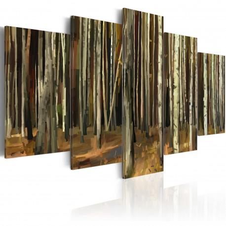 Tableau  Mystère de la Forêt de Sherwood  5 pièces
