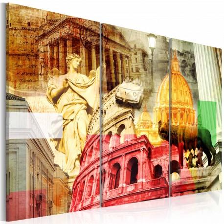 Tableau  Rome charmant  triptyque