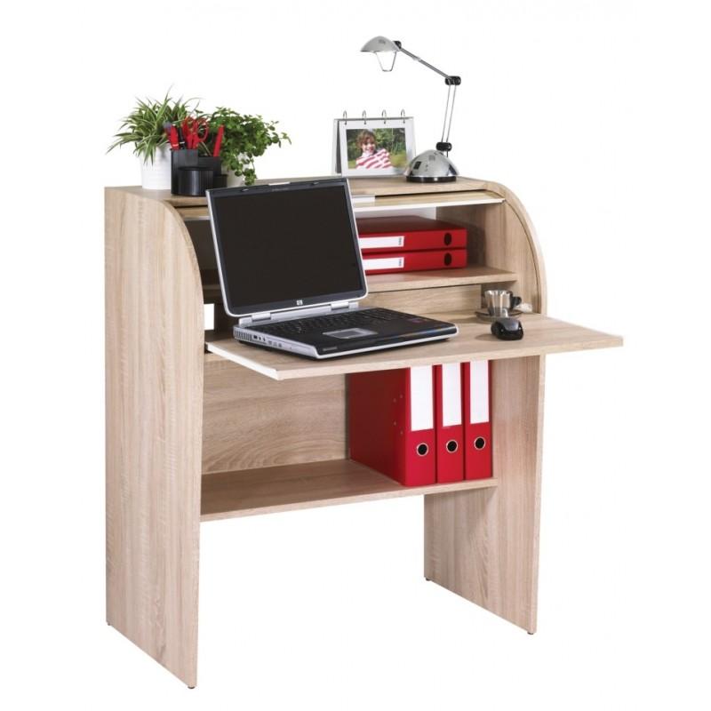 Bureau cylindre ch ne naturel beaux meubles pas chers for Bureau naturel
