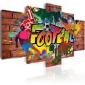 Tableau - football (graffiti)