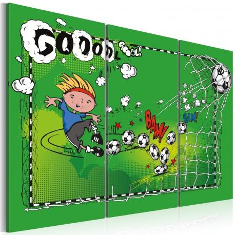 Tableau  Football game  triptych