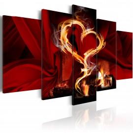 Tableau - Flames of love: heart