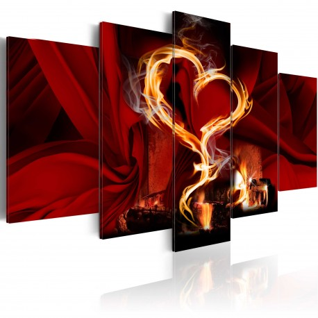 Tableau  Flames of love heart