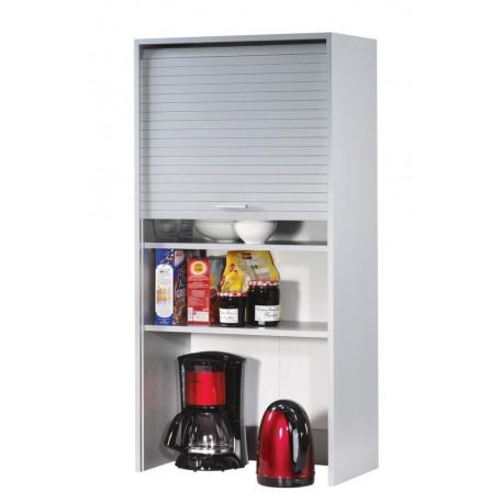 Meuble haut de cuisine aluminium largeur 60 cm hauteur 123 for Meuble cuisine 60 cm de large