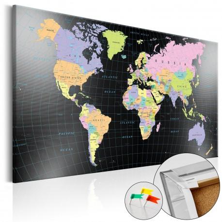 Tableau en liège  Humans Kingdom [Cork Map]