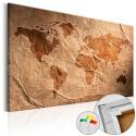 Tableau en liège - Paper Map [Cork Map]
