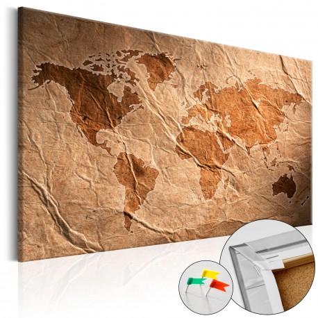 Tableau en liège  Paper Map [Cork Map]