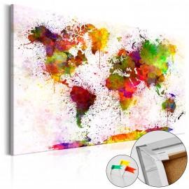 Tableau en liège - Artistic World [Cork Map]