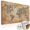 Tableau en liège - Postcards from the World [Cork Map]