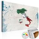 Tableau en liège - Italy [Cork Map]